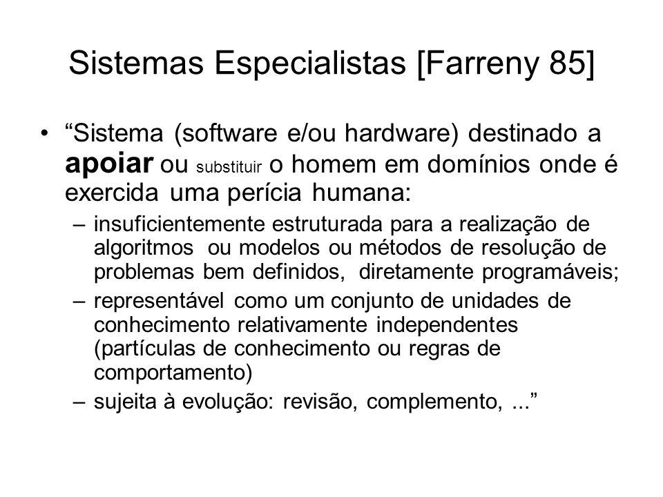 Sistemas Especialistas [Farreny 85]